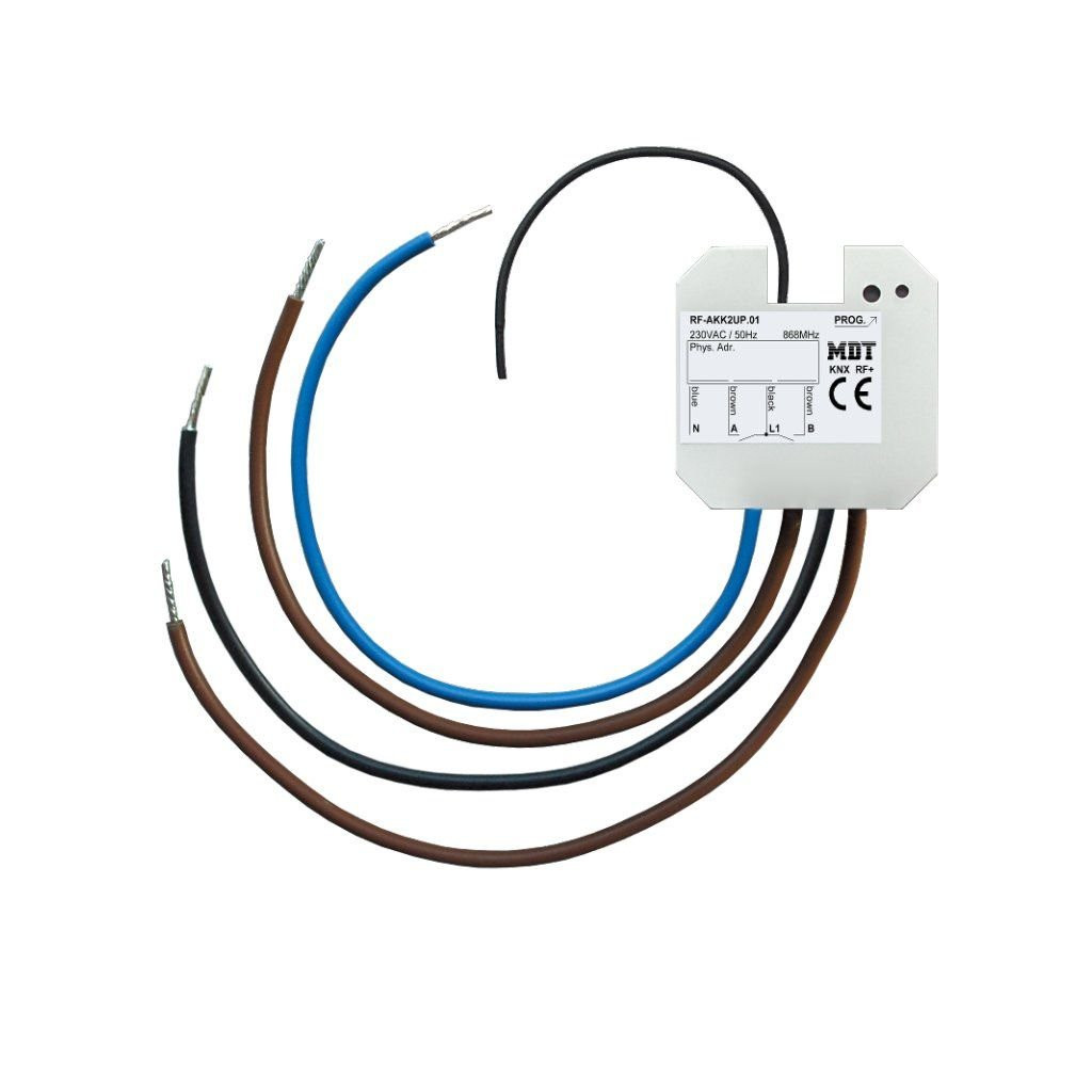 MDT RF-AKK2UP.01 / Актуатор релейный KNX RF 2-канальный, 230VAC, 6A,