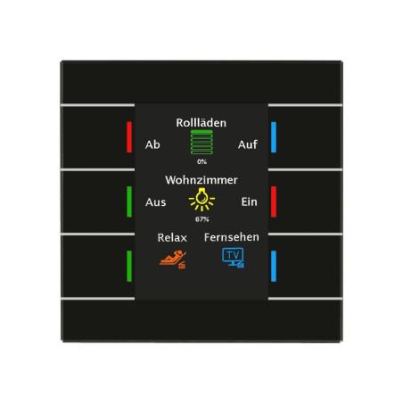 MDT BE-GT20S.01 / Выключатель сенсорный KNX/EIB 4/6/8/12x канальный (6 сенсорных зон), цветной активный дисплей, цвет чётный
