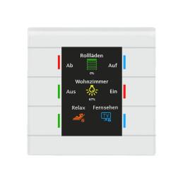 MDT BE-GT20W.01 / Выключатель сенсорный KNX/EIB 4/6/8/12x канальный (6 сенсорных зон), цветной активный дисплей, цвет белый