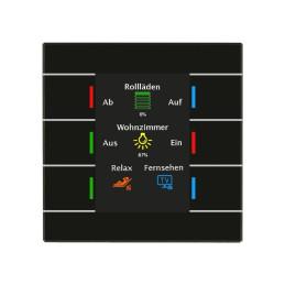 MDT BE-GT2TS.01 / Выключатель сенсорный KNX/EIB 4/6/8/12x канальный (6 сенсорных зон), цветной активный дисплей, цвет черный