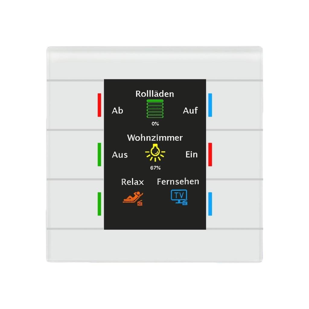 MDT BE-GT2TW.01 / Выключатель сенсорный KNX/EIB 4/6/8/12x канальный (6 сенсорных зон), цветной активный дисплей, цвет белый