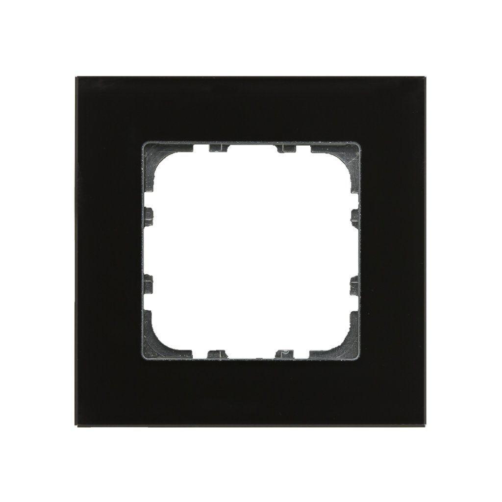 MDT BE-GTR1S.01 / Рамка стеклянная 1-местная, цвет черный
