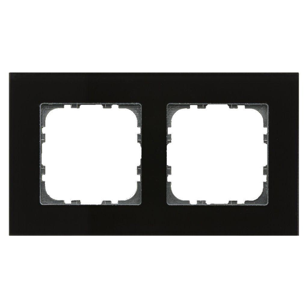 MDT BE-GTR2S.01 / Рамка стеклянная 2-местная, цвет черный