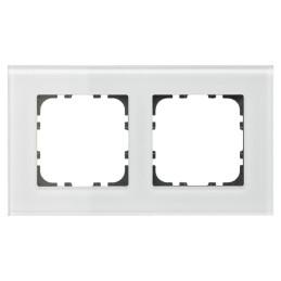 MDT BE-GTR2W.01 / Рамка стеклянная 2-местная, цвет белый