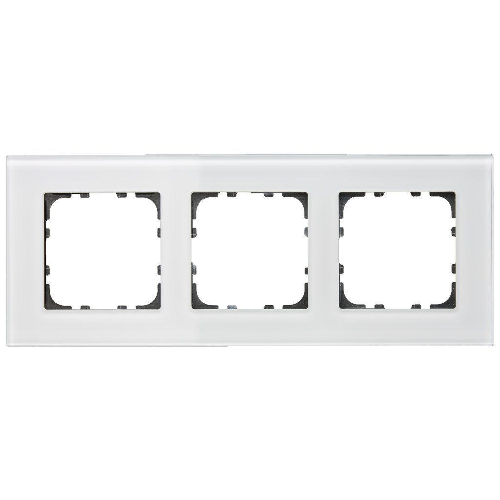 MDT BE-GTR3W.01 / Рамка стеклянная 3-местная, цвет белый