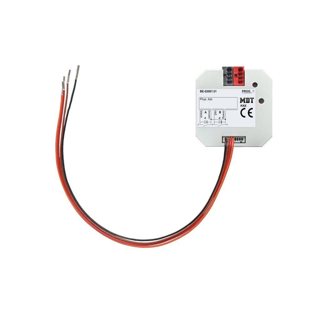MDT BE-02001.01 / Интерфейс универсальный KNX для беспотенциальных контактов, 2-канальный, в установочную коробку