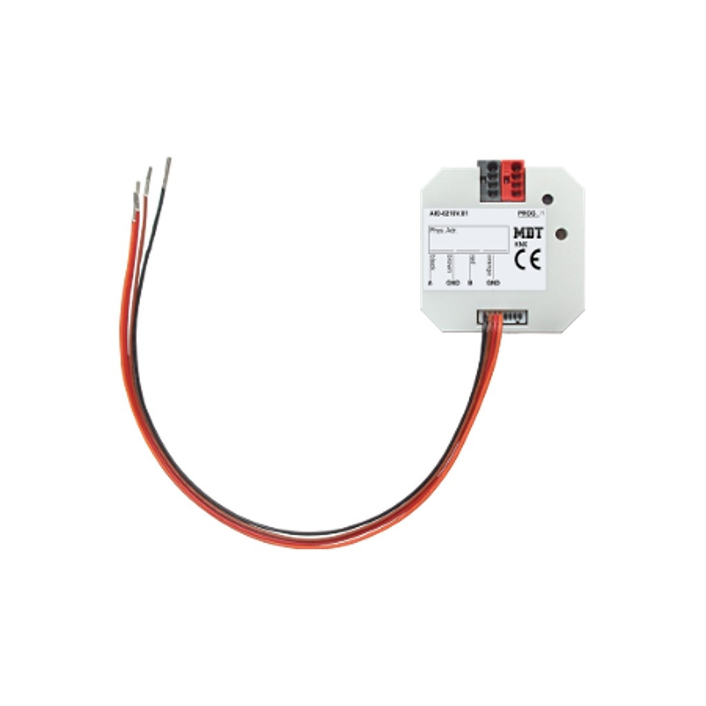 MDT AIO-0210V.01 / Модуль универсальный ввода-вывода KNX, 2-канальный, ввод: 0-12В