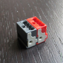CONNECTOR 243-211 RED-GREY / Разъём для шины KNX/EIB