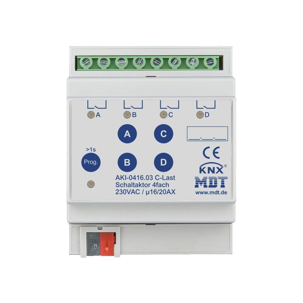 MDT AKI-0416.03 / Актуатор релейный KNX, 4-канальный, 230VAC, 16/20A