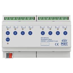MDT AKI-0816.03 / Актуатор релейный KNX, 8-канальный, 230VAC, 16/20A