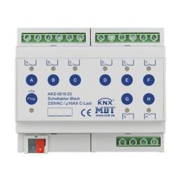 MDT AKS-0816.03 / Актуатор релейный KNX 8-канальный стандартный, 230VAC, 16A
