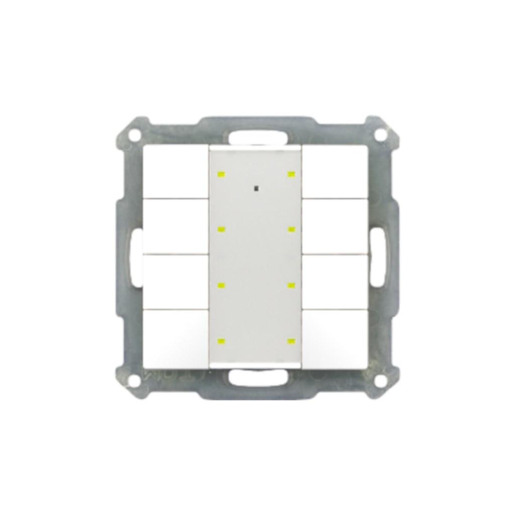 MDT BE-TA5508.01 / Выключатель кнопочный KNX 4-канальный (8 кнопок), цвет матовый белый