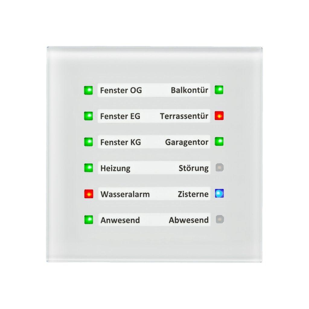 MDT SCN-GLED1W.01 / Модуль индикаторный KNX 12-канальный, три цвета индикации (RGB)