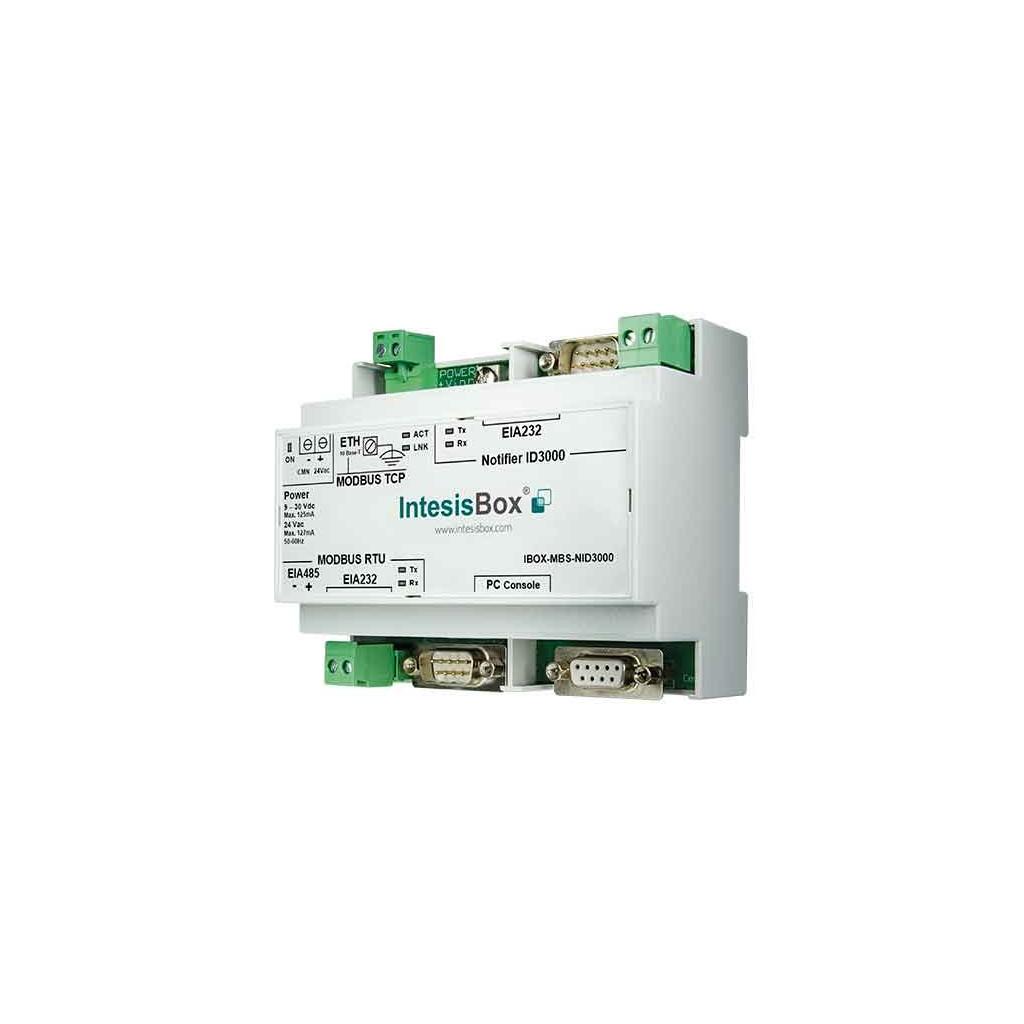 Intesis IBOX-MBS-NID3000 / Шлюз Modbus - пожарная панель ID3000, ID3002 (Notifier)