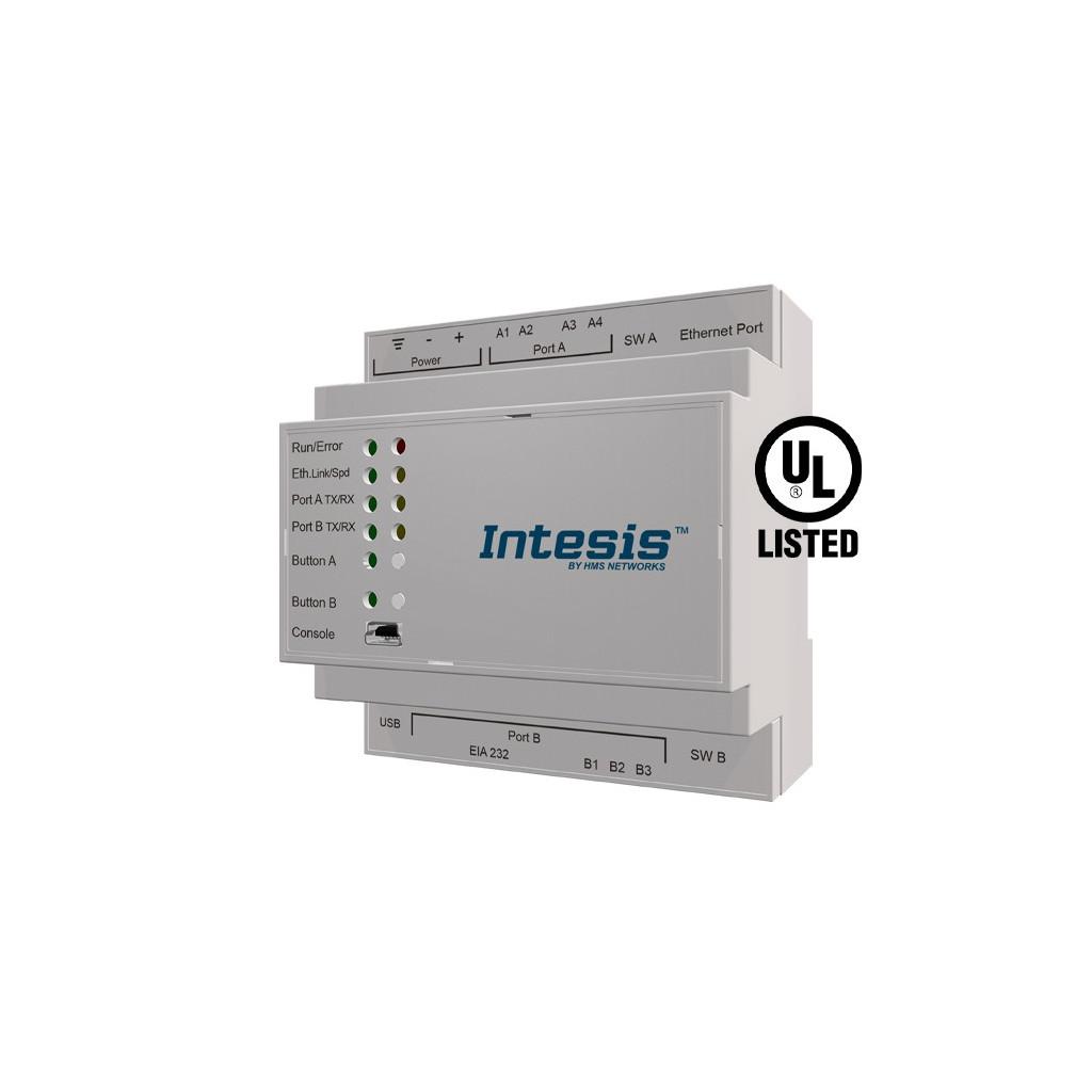 Intesis IBOX-ASCII-KNX-3K0 / KNX TP to ASCII IP Serial Server Gateway - 3000 points