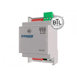 Intesis ME-AC-BAC-1L / Mitsubishi Electric Domestic, Mr.Slim and City Multi to BACnet MSTP Interface - 1 unit