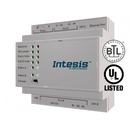 Intesis PA-AC-BAC-16 / Panasonic ECOi, ECOg and PACi systems to BACnet IP/MSTP Interface - 16 units