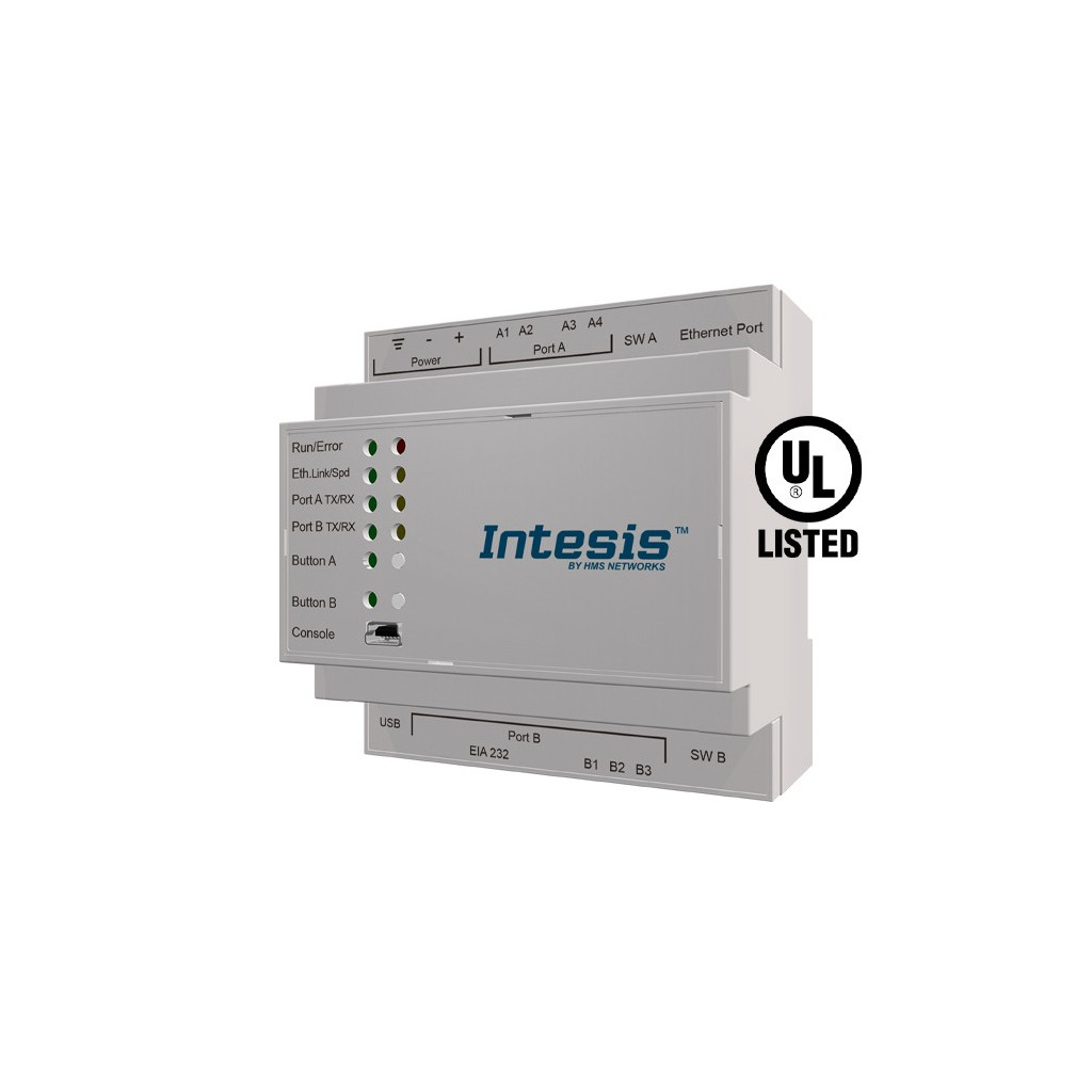 Intesis IBOX-MBS-KNX-3K0 / KNX TP to Modbus TCP RTU Server Gateway - 3000 points