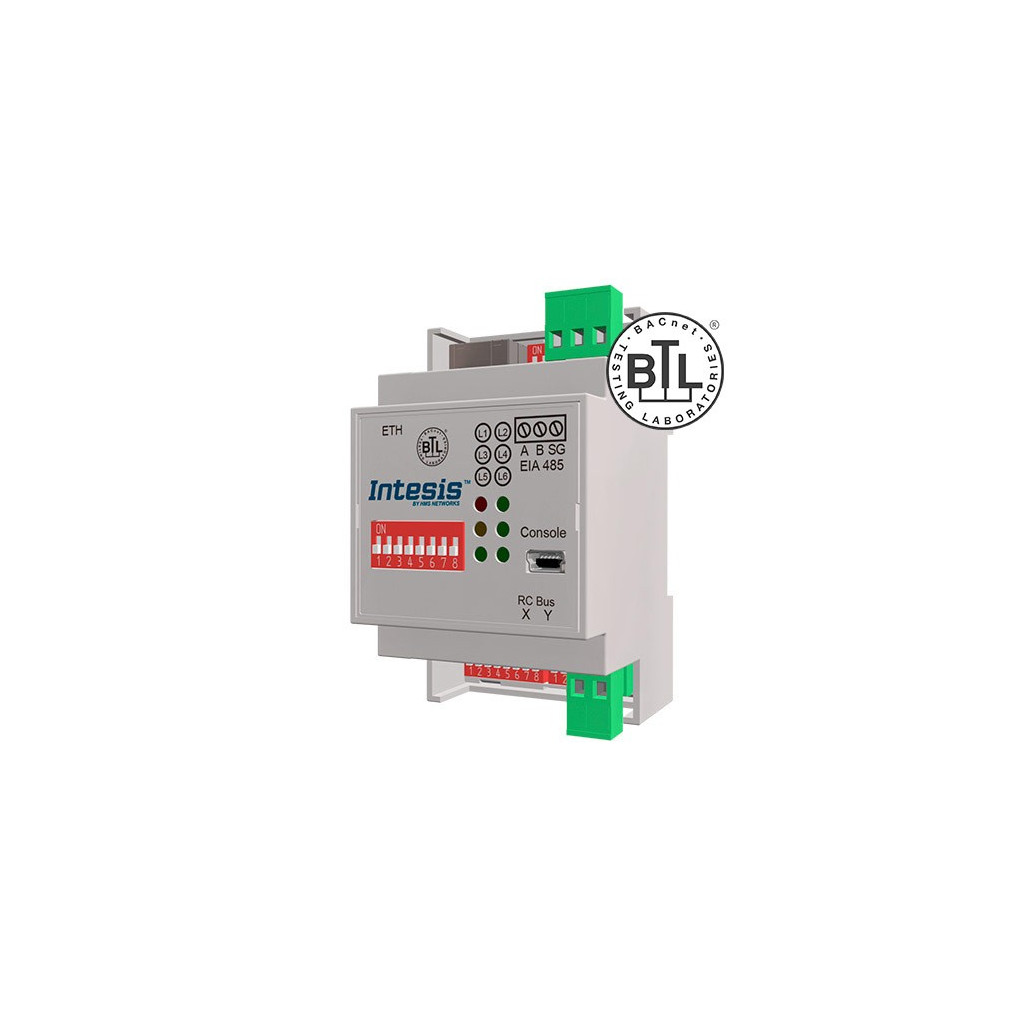 Intesis MH-RC-BAC-1 / Mitsubishi Heavy Industries FD and VRF systems to BACnet IP/MSTP Interface - 1 unit