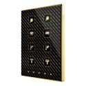 Touch-MyDesign Plus / Выключатель сенсорный KNX, 4/6/8 кнопок и 5 дополнительных, термостат