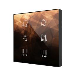 FLAT V2 / Выключатель сенсорный KNX, с подсветкой