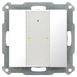 MDT BE-TA55P2.G1 / Выключатель кнопочный KNX 1-канальный (2 кнопки), фоновая подсветка, цвет глянцевый белый