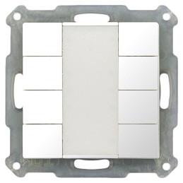MDT BE-TA5508.G1 / Выключатель кнопочный KNX 4-канальный (8 кнопок), цвет глянцевый белый