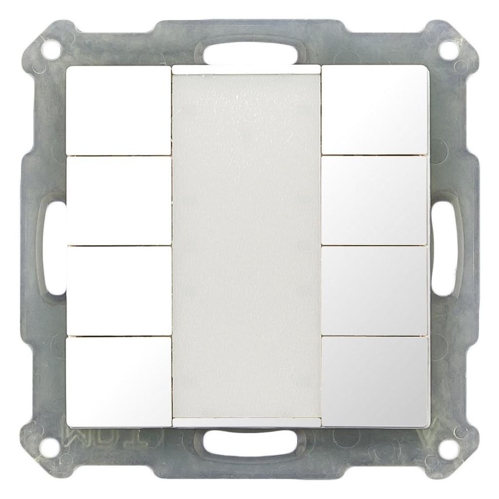 MDT BE-TA5508.G1 Выключатель кнопочный KNX 4-канальный (8 кнопок), цвет глянцевый белый