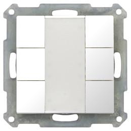 MDT BE-TA5506.G1 / Выключатель кнопочный KNX 3-канальный (6 кнопок), цвет глянцевый белый