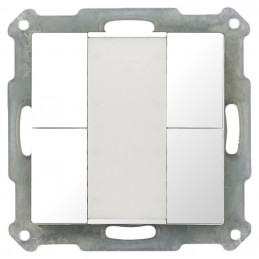 MDT BE-TA5504.G1 / Выключатель кнопочный KNX 2-канальный (4 кнопки), цвет глянцевый белый