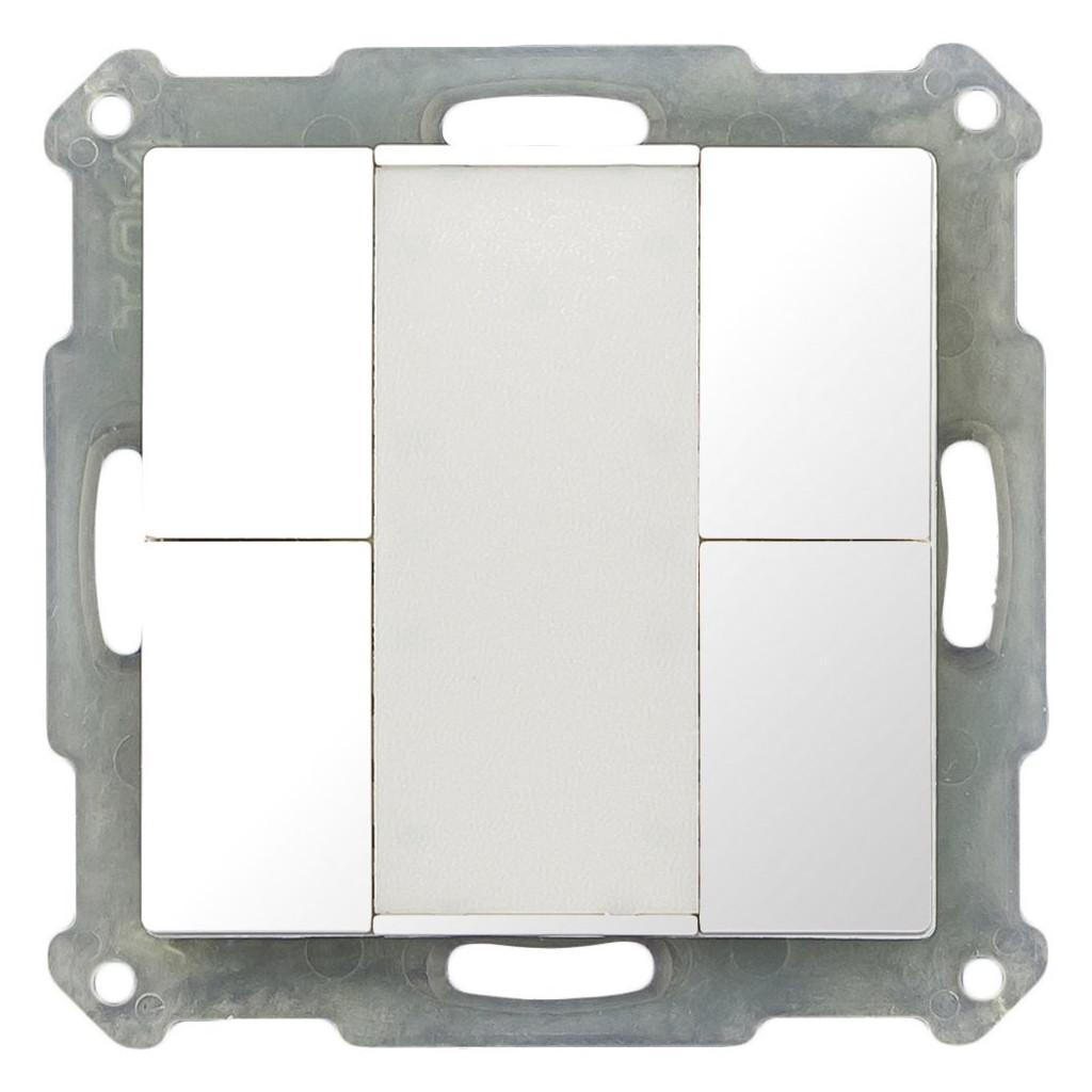 MDT BE-TA5504.G1 Выключатель кнопочный KNX 2-канальный (4 кнопки), цвет глянцевый белый