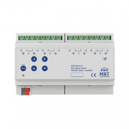 MDT AKD-0401.01 Диммер универсальный KNX, 4-канальный, нагрузка 12-250 Вт/ВА, выход 230VAC
